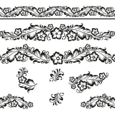 Letterpress borders plate