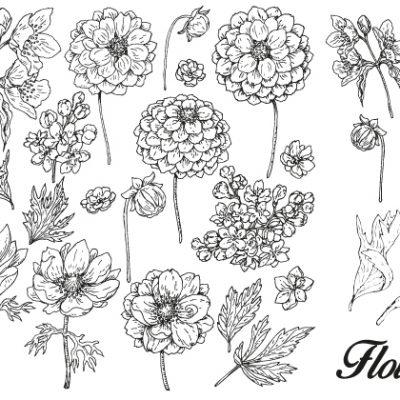 Flowers Letterpress plate