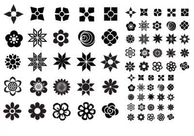 Letterpress Flower icons