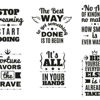 Letterpress motivational Sayings