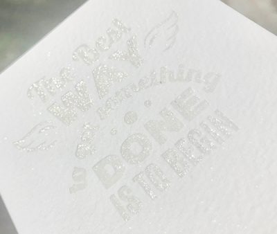 Ice White Shimmer Letterpress bronzing powder