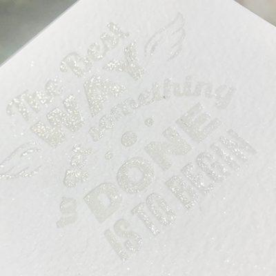 Ice White Shimmer Letterpress bronzing powder