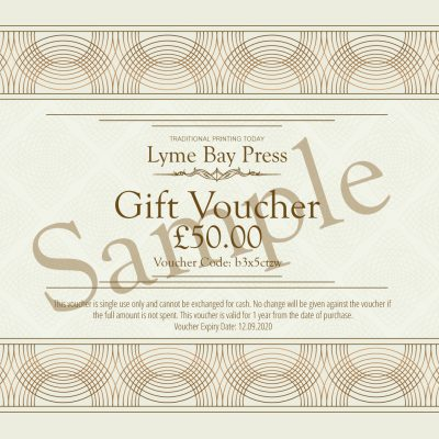 Lyme bay Press Gift Voucher