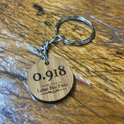 Letterpress Type high Key Ring