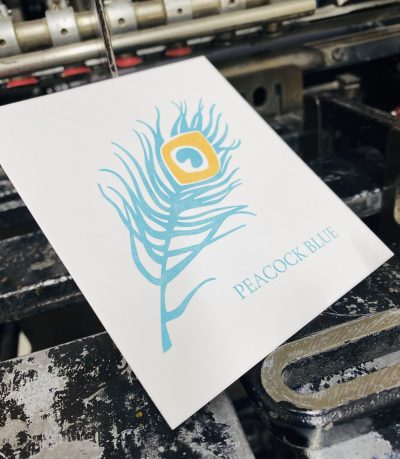 Peacock Blue print sample